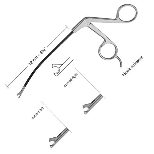 Endoscopic Face Lifting Hook Scissors,12cm